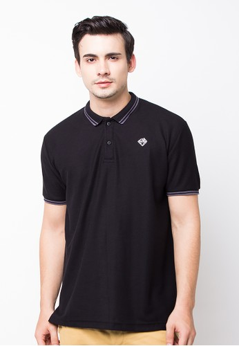 Bloop Polo Shirt E Diamound St Black BLP-PE004