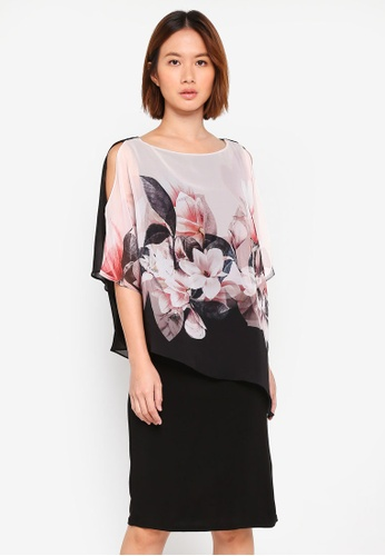 Wallis pink Blush Magnolia Overlay Dress AC175AABCC39D9GS_1