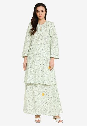Butik Sireh Pinang green Baju Kurung Pahang Syasya 30E9CAA0625654GS_1