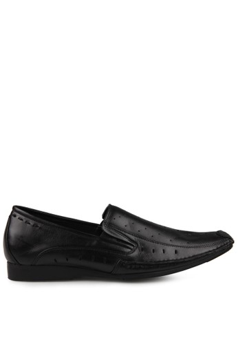 Marelli black Men Ancone Leather Shoes MA036SH49UISID_1
