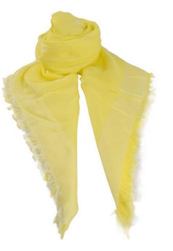 EMPORIO ARMANI yellow Emporio Armani Scarf in Yellow for UNISEX E7CB6AC75ED727GS_1