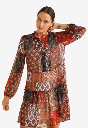 546d39375f Shop MANGO Patchwork Print Dress Online on ZALORA Philippines