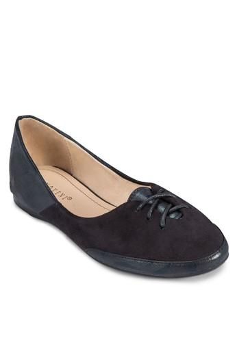 esprit outlet hk拼接飾帶平底鞋, 女鞋, 芭蕾平底鞋