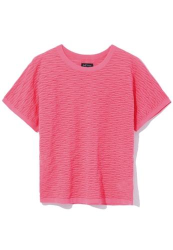 tout à coup pink Textured knit top B3FF9AAFCD97EDGS_1