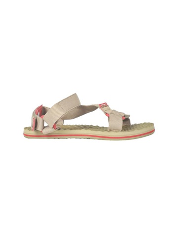 The North Face green TNF M BASE CAMP SWITCHBACK SANDAL KELP TAN/SUNBAKED RED BF5CBSHA1262BCGS_1