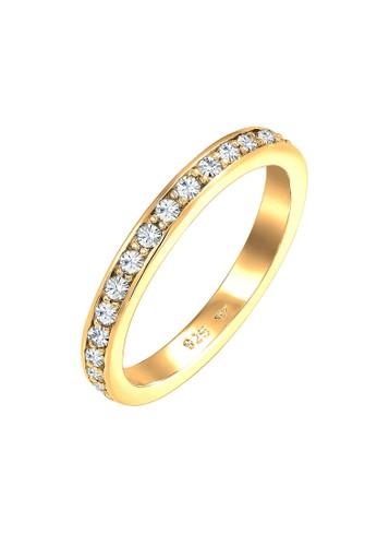 Elli Germany gold Perhiasan Wanita Perak Asli - Silver Cincin Glamorous Crystals Gold Plated B4DC3ACB167DEAGS_1