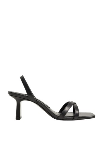 Mango black Heel Leather Sandals D33F8SH55B0168GS_1