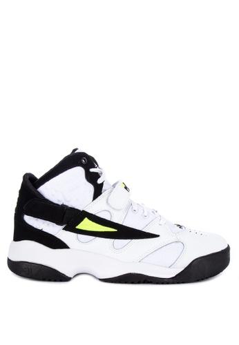 Fila white and multi Spoiler Sneakers 9BF51SH541AB46GS_1