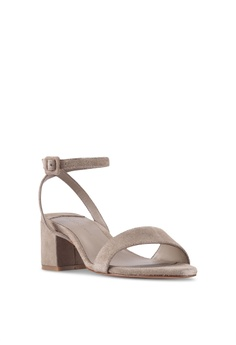 fdd5acf9d19 Violeta by MANGO Leather Straps Mono-tone Heels RM 199.00. Available in  several sizes