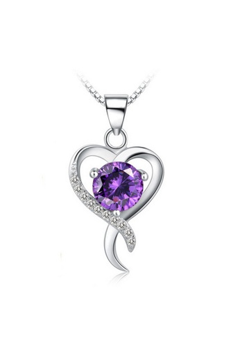 LYCKA purple and silver LPP88164 S925 Silver Necklace 17C64ACB217103GS_1