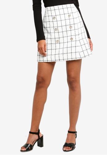Forever New white Loulou Boucle Button Mini Skirt E3FDDAA2179C28GS_1
