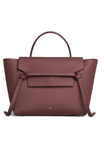 CELINE red Celine Mini Belt Crossbody Bag in Grenat B8617ACCC39176GS_1