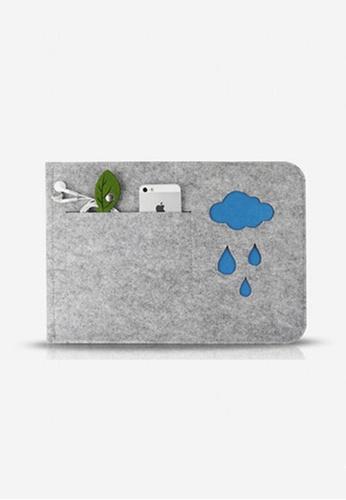 "euphoricliving grey Felt Cloud Laptop Sleeve 11"" EU777AC34KDHSG_1"