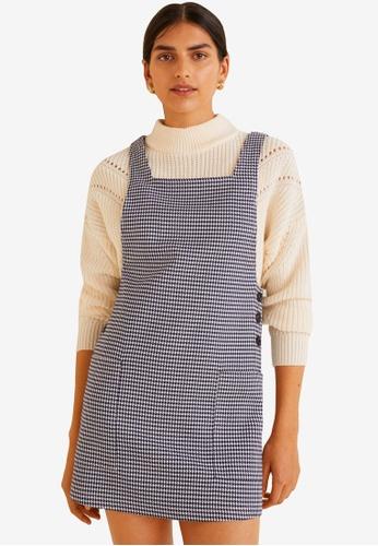 Mango blue Houndstooth Dress DAA25AA75127C0GS_1