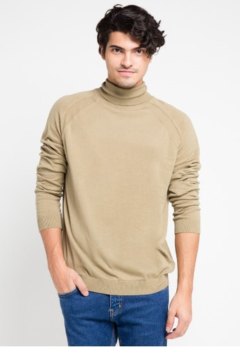 Noir Sur Blanc brown Mens Turtleneck Long Sleeve NO321AA0V4VAID_1