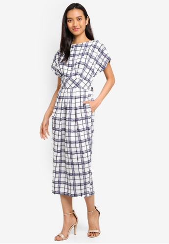 CLOSET white Closet Dress With Shaped Waistband A7B02AA4E9DD49GS_1