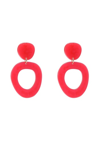 Pieces red Elvira Earrings 1E827AC45B7949GS_1