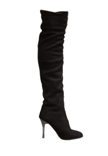 Twenty Eight Shoes black Plating High-heeled Over Knee BootsVB809 A7D0BSHD4E2BFDGS_1