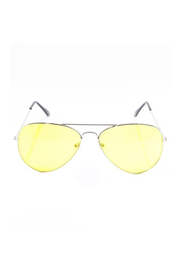 Amora Scarlett yellow Yellow Lens Aviator with Silver Frame AM058AC38DANMY_1