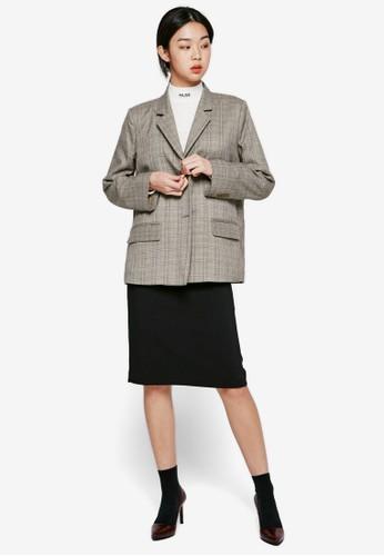 開叉素色鉛筆短裙, 服esprit 京站飾, 裙子