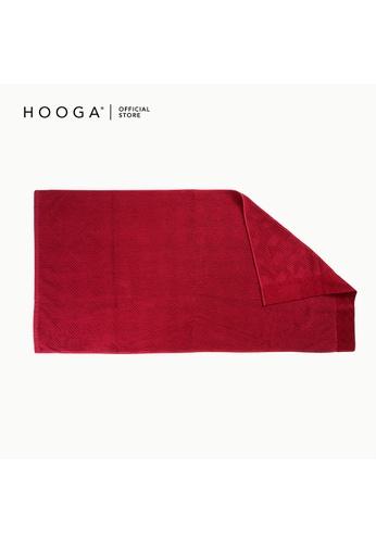 HOOGA red Hooga Bath Towel Truman (Bundle of 2) C6F16HL2248440GS_1