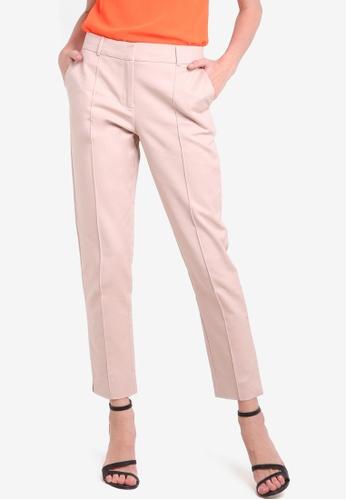 WAREHOUSE pink Compact Cotton Trousers WA653AA05XMOMY_1