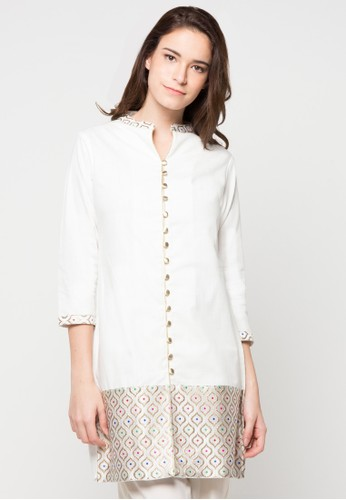 CHANIRA FESTIVE COLLECTION white Ragna Short Tunic CH354AA84BHRID_1