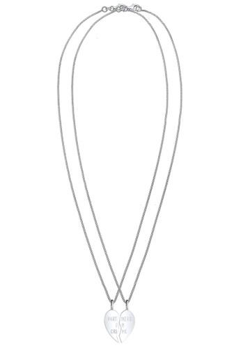 Elli Germany silver Elli Germany Necklace Friends Wording Lettering Pendants Heart Basic 925 Sterling Silver 0DF67ACFA58495GS_1