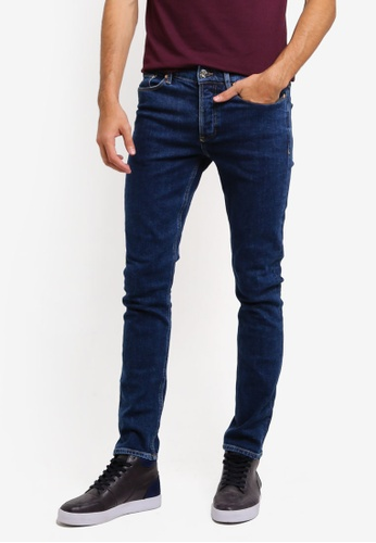 River Island blue Dark Wash Sid Skinny Jeans 5C2DEAA9EF7BEFGS_1