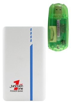 J1 13000mah Power Bank With FREE 4-in-1 Card Reader