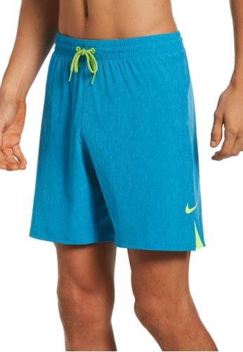 "Nike blue Nike Swim Men's Essential Vital 7"" Volley Short FF087US0F8B534GS_1"