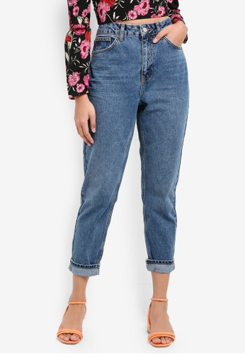 TOPSHOP blue Moto Mid-Blue Mom Jeans FF4A4AA91161C4GS_1