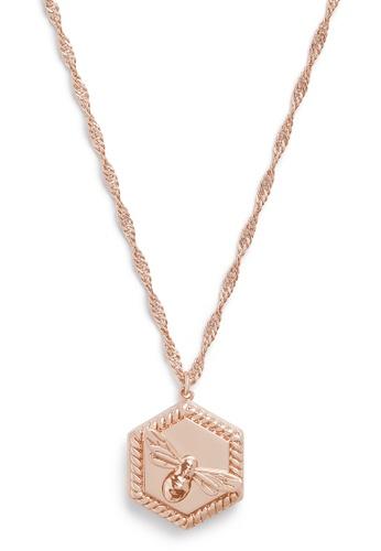Olivia Burton gold Olivia Burton Lucky Bee 18K Rose Gold Women's Necklace  (OBJAMN83) D187FAC6A0CC4FGS_1