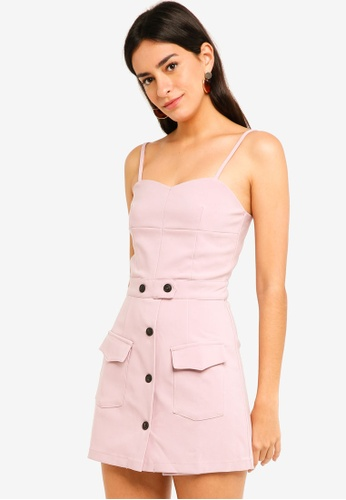 MDSCollections pink Contemporary Cami Romper 0CCD0AA2F33F23GS_1