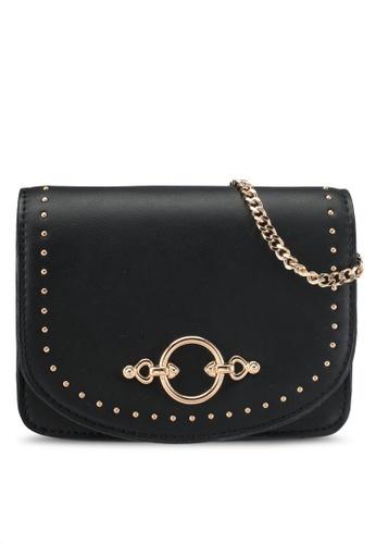 TOPSHOP black Osen Studded Crossbody Bag 00580ACD581251GS_1