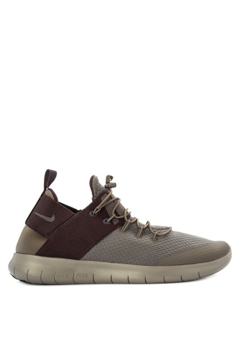 Nike brown and red Men's Nike Free RN Commuter 2017 Running Shoes NI126SH0STSDMY_1