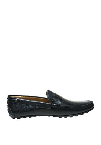 Sebago black Mens Schwentine Driving Shoes SE328SH12KUPPH_1