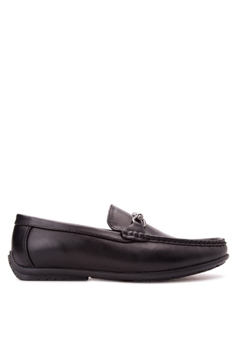 Wade black Smart Casual Loafers WA436SH82JXXPH_1