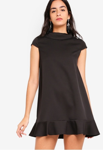 ZALORA black Mock Neck Dress With Ruffle 2A1D3AAFC4A5A9GS_1