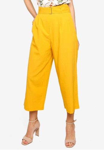 FORCAST yellow Kira Belted Pants CEE1EAA3E27DBEGS_1