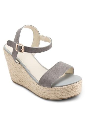 Covesprit outlet 台灣et 麻編楔型跟涼鞋, 女鞋, 楔形涼鞋
