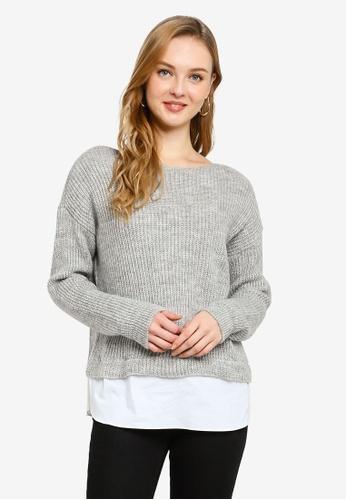 ONLY 灰色 針織衫 76A4CAAAC50F3CGS_1