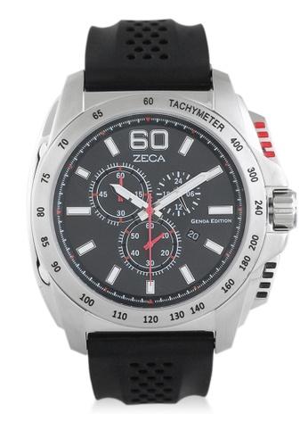 ZECA black Zeca Watches Men Fashion Rubber Chrono - 247M Black ZE074AC0UL21ID_1