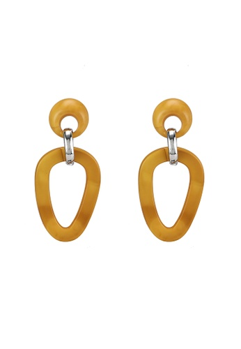 niko and ... yellow Tiered Statement Earrings 62617AC11A6273GS_1