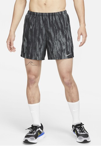 "Nike black Men's Challenger Wild Run 5"" Brief-Lined Running 'shorts 49212AAC521BCDGS_1"
