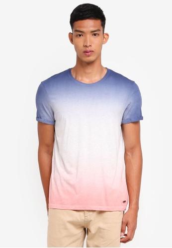 ESPRIT navy Tie Dye Short Sleeve T-Shirt 052D5AAD57D70BGS_1