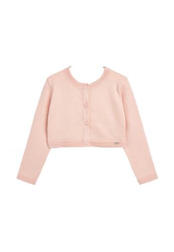 Mayoral pink Peach Basic Cardigan 0AAA7KA638CFB7GS_1