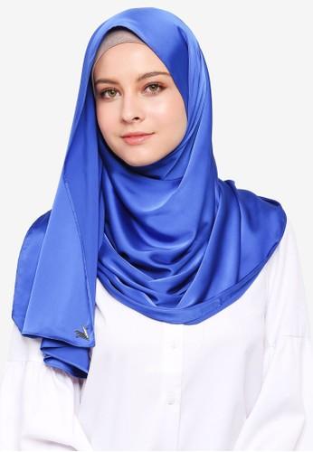 VERCATO blue Glam Diva Satin Silk Shawl FC0D3AA114C7B1GS_1