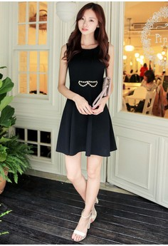 [IMPORTED] Prim Femme Bow Dress - Black