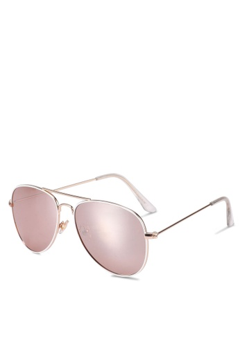 Rubi pink Arabella Metal Sunglasses B5026GL9B5EA3EGS_1